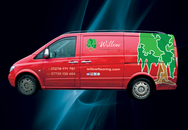 Willow Flooring Vehicle Signage