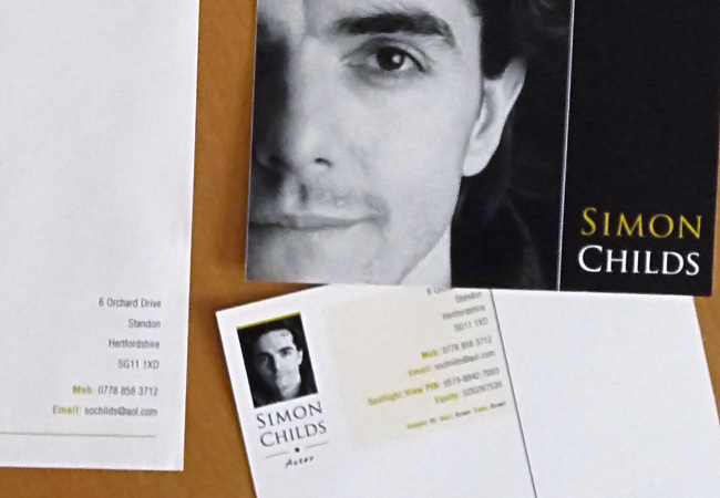 Actor - Simon Childs Stationery