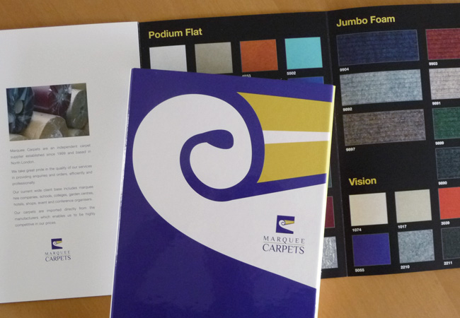 Marquee Carpets Sample Pack Brochure